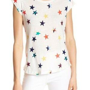 Joie Top Dillon Star Patterned T-Shirt White XXS